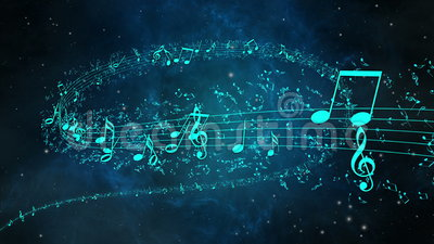 Animated Background With Musical Notes, Music Notes - LOOP Stock ...