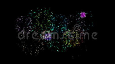 Animated fireworks. With alpha channel