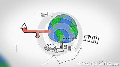 Animatie op de bedrijfsgroei en ontwikkeling