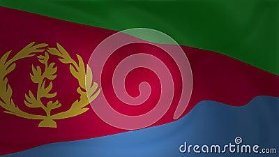 Animatie van de vlag die van Eritrea in de wind golven royalty-vrije illustratie