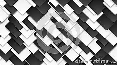Animation abstraite noire et blanche de vidéo de places de contraste illustration de vecteur