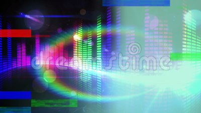 Animation Of Colorful Sound Bar On Black Background Stock Footage Video Of High Glass 143082760