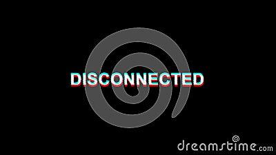 Animation déconnectée de boucle de la déformation 4K de Digital TV des textes d'effet de problème illustration libre de droits