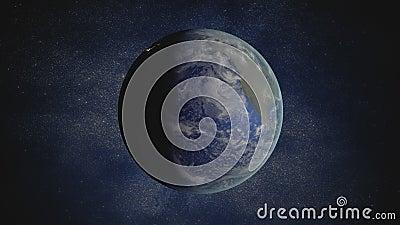 animation de bouclage rendue par 3D de la terre tournante clips vidéos