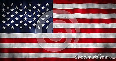 Animation de drapeau am?ricain Drapeau des Etats-Unis avec l'effet de vent Jour de la D?claration d'Ind?pendance de l'Am?rique vi illustration stock