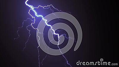 Animation de foudre et d'orage illustration libre de droits