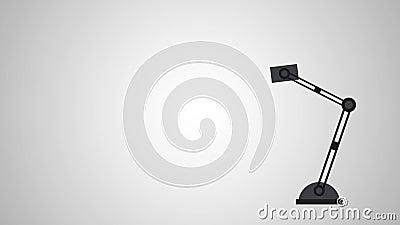 Animation de la lampe de chevet HD illustration libre de droits