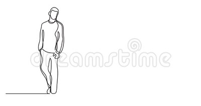 Animation des Vaters und der Tochter, die - Federzeichnung der einzelnen Zeile gehen vektor abbildung