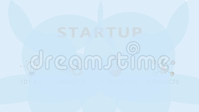 Animation flat line business and startup design for creative business