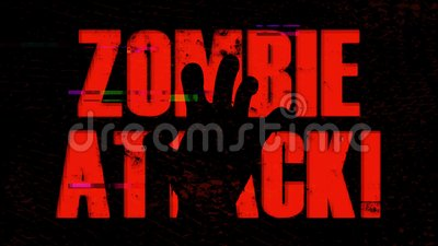B Movie Zombie Attack Background With Twitch Effect stock video footage
