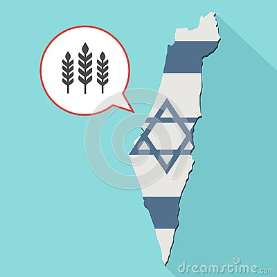 Free Animation Of A Long Shadow Israel Map With Its Flag And A Comic Royalty Free Stock Image - 101023836