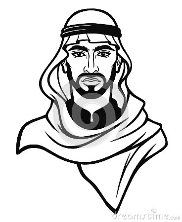 Free Animation Portrait Of The Arab Man In A Traditional Headdress. Stock Photography - 117460362