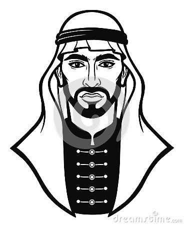 Free Animation Portrait Of The Arab Man In A Traditional Headdress. Royalty Free Stock Image - 117460376