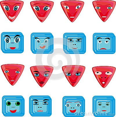 Animation red and blue buttons