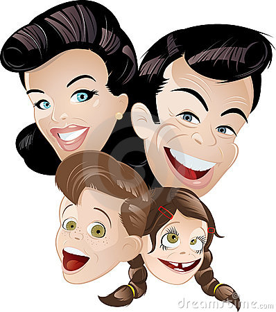 Animation retro family