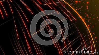 Animation sans couture du tir à rayon laser abstrait de raie de lumière orange dans le modèle à grande vitesse de fond illustration de vecteur