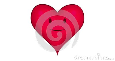 Animation of a talking heart stock footage