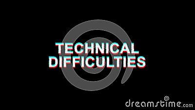 21 Animation technique de boucle de la déformation 4K de Digital TV des textes d'effet de problème de difficultés banque de vidéos