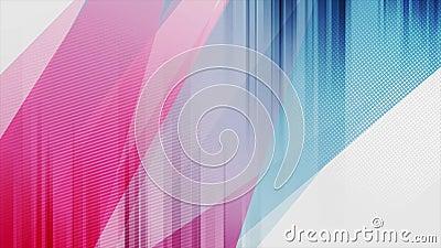 Animation vidéo abstraite de contraste coloré bleu et violet illustration libre de droits