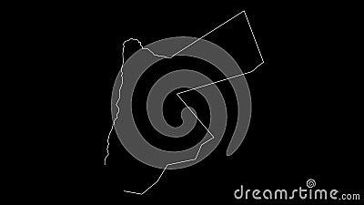 Animazione del profilo della mappa della Giordania illustrazione di stock