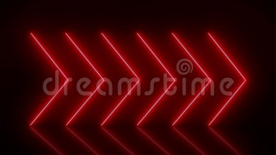 Animazione video delle frecce di neon luccicanti in rosso video d archivio