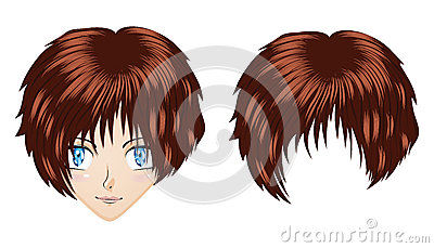 Anime brunette girl