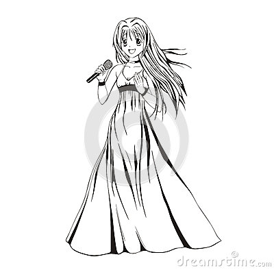 Anime girl singer