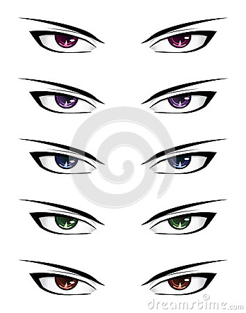 Groovy Anime Male Eyes Stock Photos Image 33984003 Hairstyles For Men Maxibearus