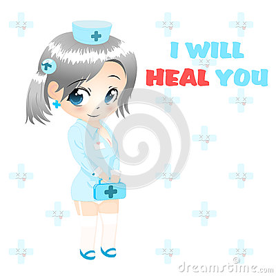 Anime nurse vector
