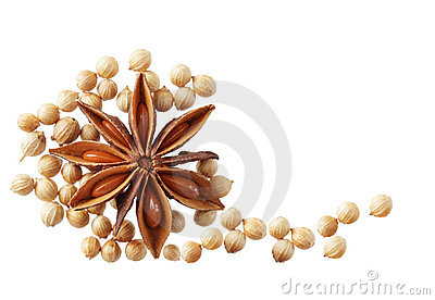 Anise and Cilantro seeds
