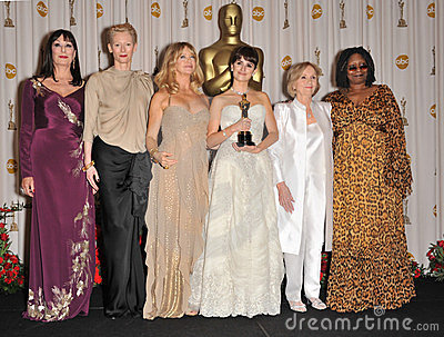 Anjelica Huston, Eva Marie Saint, Goldie Hawn, Penelope Cruz, Tilda Swinton, Whoopi Goldberg Editorial Photo