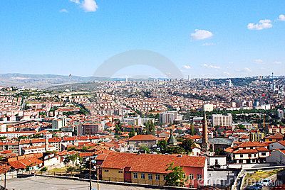 Ankara city skyline