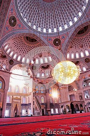 Ankara, Turkey - Kocatepe Mosque interior