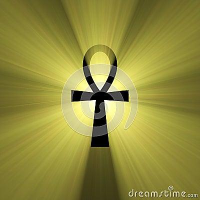 Ankh Egyptian symbol of life light flare