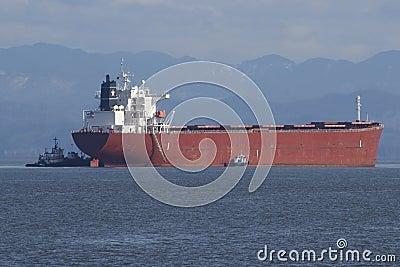 Ankommande lastfartyg