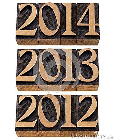 Ankommende Jahre 2012, 2013, 2014