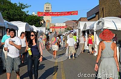 Ann Arbor State Street Area Art Fair 2011 Editorial Photography