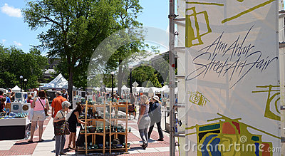 Ann Arbor Street Art Fair Editorial Photography