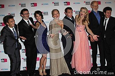 Ann Miller, Berenice Bejo, James Cromwell, Jean Dujardin, Missi Pyle, Penelope Ann Miller, Michel Hazanavicius Editorial Image