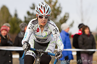 Anna Dingman  - Pro Woman Cyclocross Racer Editorial Image