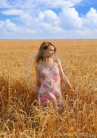 Free Anna In Wheat Field 1 Royalty Free Stock Image - 2442856