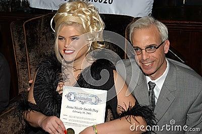 Anna Nicole Smith, Steve Martin Editorial Stock Image