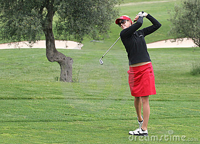 Anna Rawson, golf Ladies European Tour, Editorial Photo