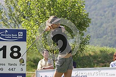 Anna Rawson, Golf Swiss Open, Losone, 2007 Editorial Image
