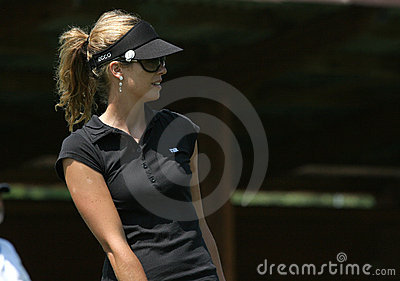 Anna Rawson, Golf Swiss Open, Losone, 2007 Editorial Stock Photo