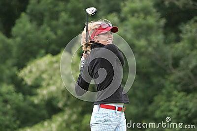Anna Rawson, Losone 2007, Golf Ladies european Editorial Stock Image