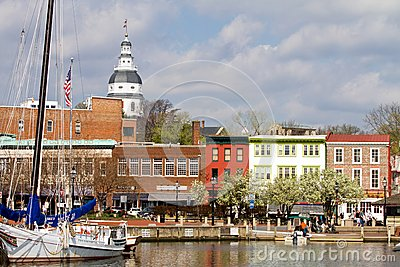 Annapolis Downtown Harbor Editorial Stock Image