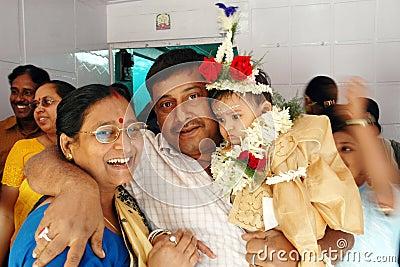 Annaprashana rituals in India Editorial Stock Photo