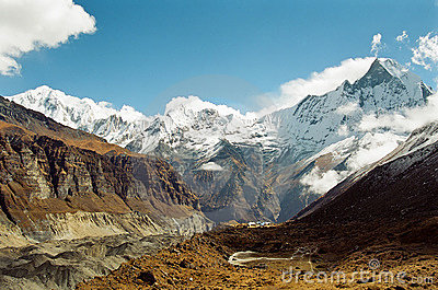Annapurna Base Camp, Nepal Royalty Free Stock Photos - Image: 12688248