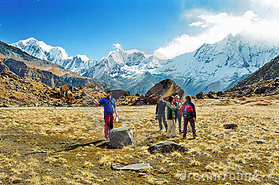 Annapurna Base Camp, Nepal Editorial Stock Image